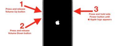 How do you restart a frozen iPhone?