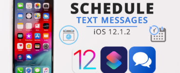 How do you schedule a text on iPhone 12?