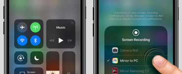 How do you screen mirror on iPhone 12?
