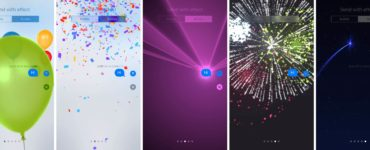 How do you send special effects on iPhone?