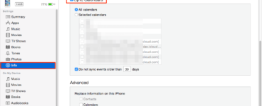 How do you sync iPhone calendars?