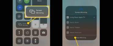 How do you turn off mirroring on iPhone?