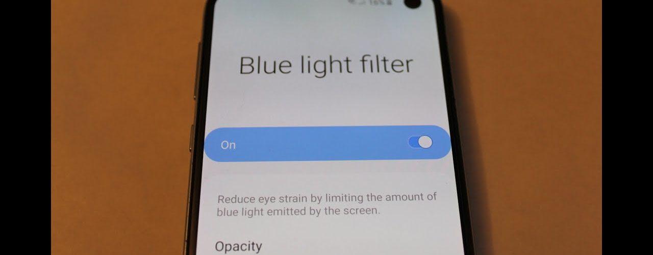 Should blue light filter be on or off?