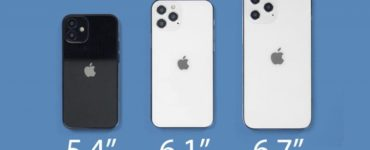 What are the sizes of the iPhone 12?