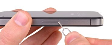 What can you use to remove SIM card from iPhone?