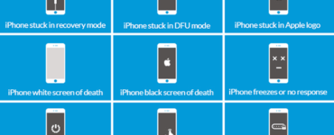 What causes iPhone 11 black screen of death?