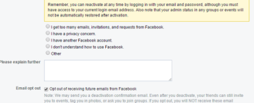 What do my friends see when I deactivate Facebook?