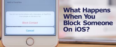 What happens when you block a contact on iPhone?