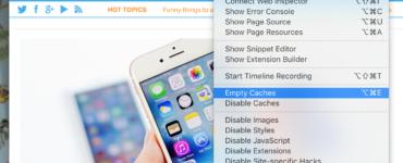 What happens when you clear Safari cache?