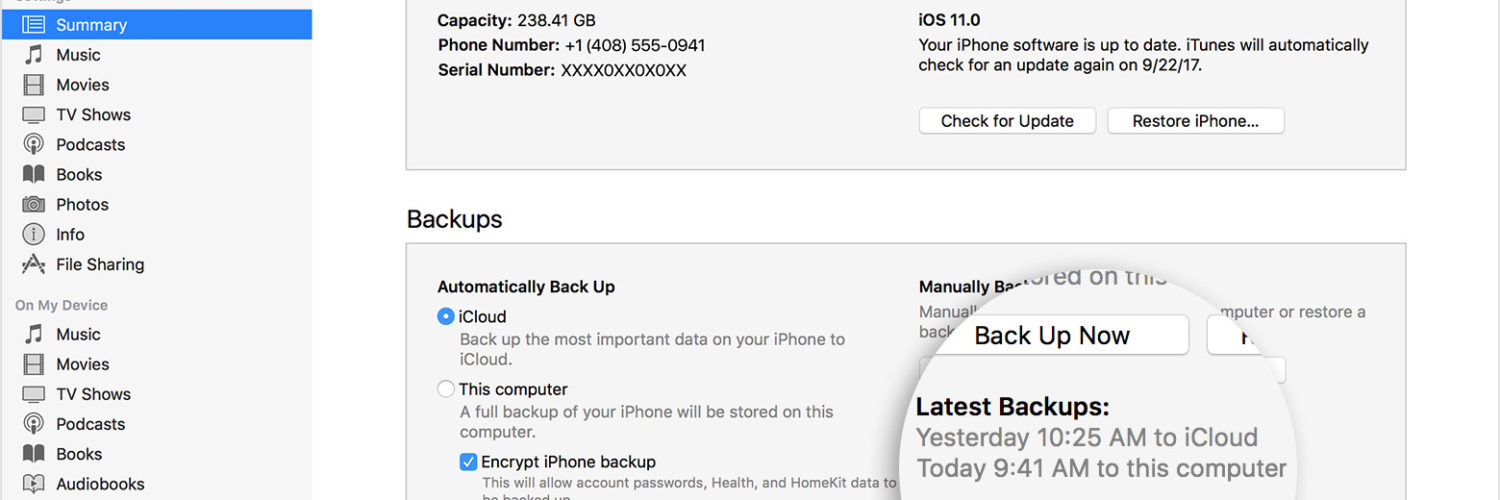 What will I lose if I don't backup my iPhone?