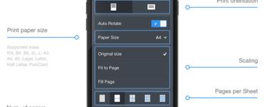 Where are printer settings iPhone?