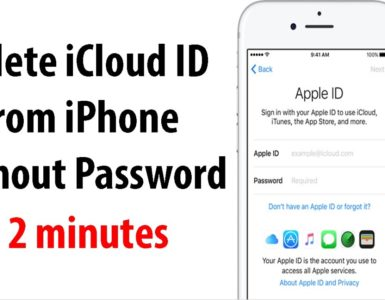 Where do I find my iCloud ID and password?