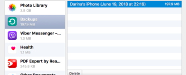 Where do iPhone backups go?