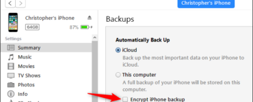Where is iPhone backup stored?