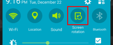Where is rotation lock in settings?