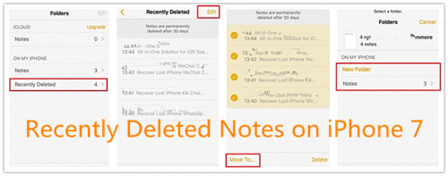 Where is the recently deleted notes folder on iPhone?
