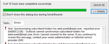 Why are my emails not sending and going to outbox?