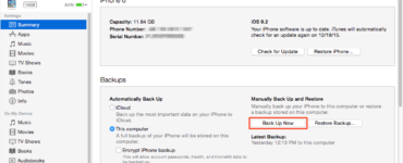 Why can't I backup my iPhone to my computer?