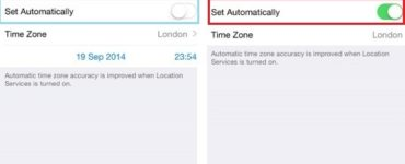 Why can't I change time zone on iPhone?