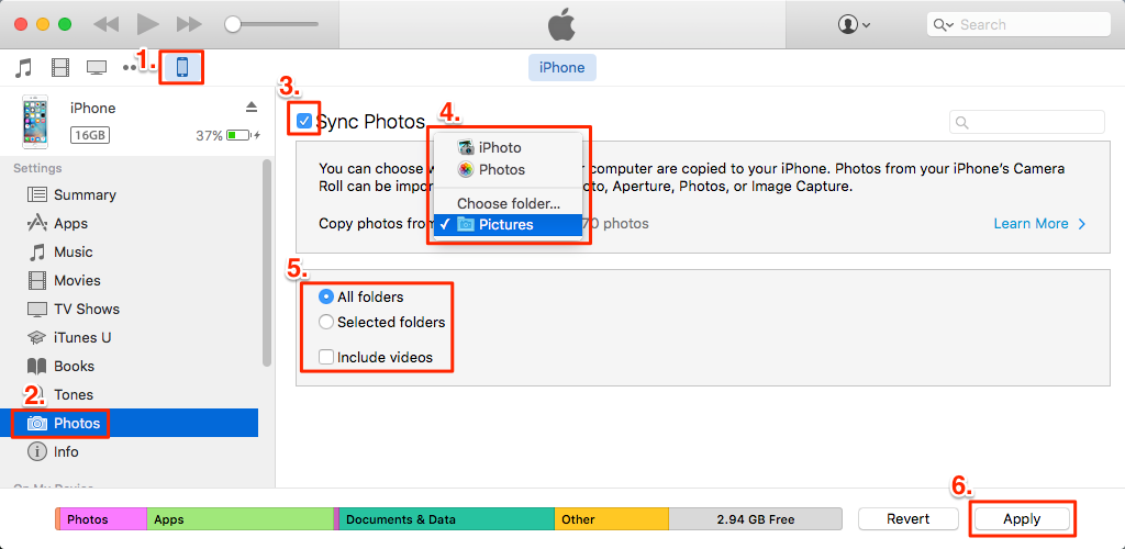 Why can't I copy my photos from iPhone to PC?