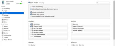 Why can'ti transfer music from iTunes to my iPhone?