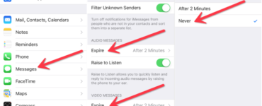 Why do voice messages disappear on iMessage?